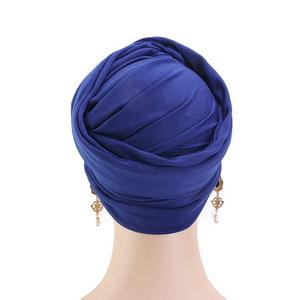 Image 5 - Женский мусульманский шарф с длинным хвостом, тюрбан, хиджаб, шапочка с раком, головной платок, простая повседневная бандана в арабском стиле