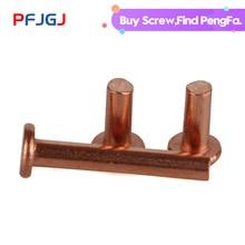 Peng Fa GB109 flat head copper rivet solid M1.5M2M2.5M3M4M5M6M8 series