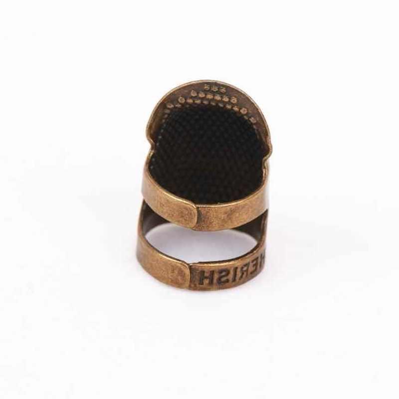 1PCS Retro Finger Protector Antike Fingerhut Ring Handworking Nadel Fingerhut Nadeln Handwerk Haushalt DIY Nähen Werkzeuge Zubehör