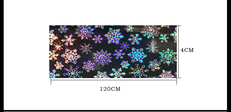 1pcs Christmas Snowflake Nail Art Stickers Christmas Starry Sky Pattern Thermal Transfer Stickers Glitter Nail Art Decoration in Stickers Decals from Beauty Health