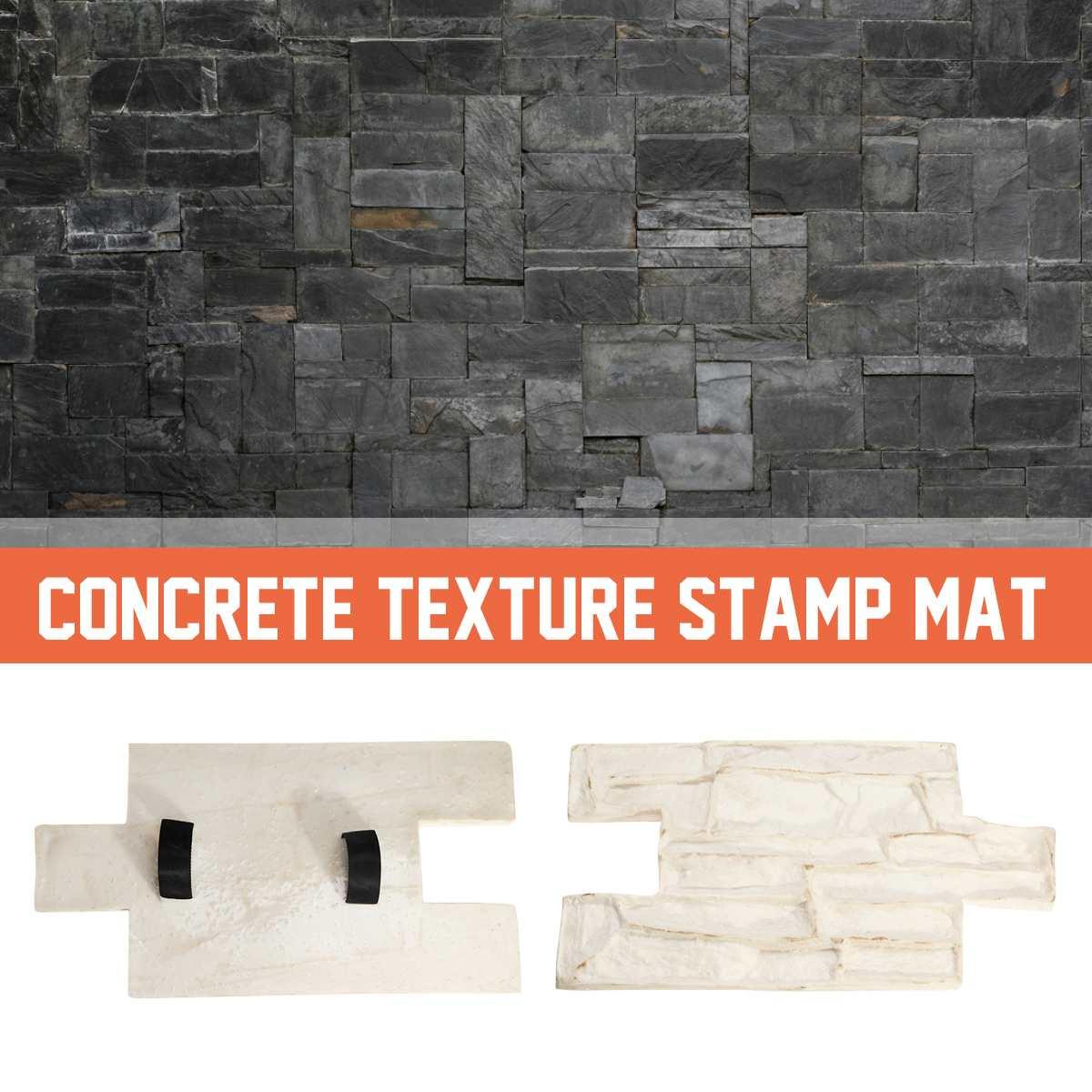 Garden House Decor Texture Wall  Floors Molds Polyurethane Molds For Concrete Cement Plaster Stamps Model Molds Rubber Molds
