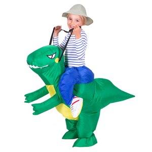 Image 5 - Надувной детский костюм Purim на Хэллоуин, вечеривечерние, динозавр, единорог, Женский костюм на Хэллоуин, Детский костюм для катания