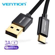 Vention Cable Micro USB 2A carga rápida para Samsung Xiaomi Cable de datos USB Cable de carga de teléfono móvil para tableta Android Huawei