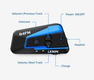 Image 2 - Lexin 1PC 1500M 4 가지 방법 다기능 인터콤 오토바이 블루투스 헬멧 방수 그룹 토크 헤드셋 FM 기능