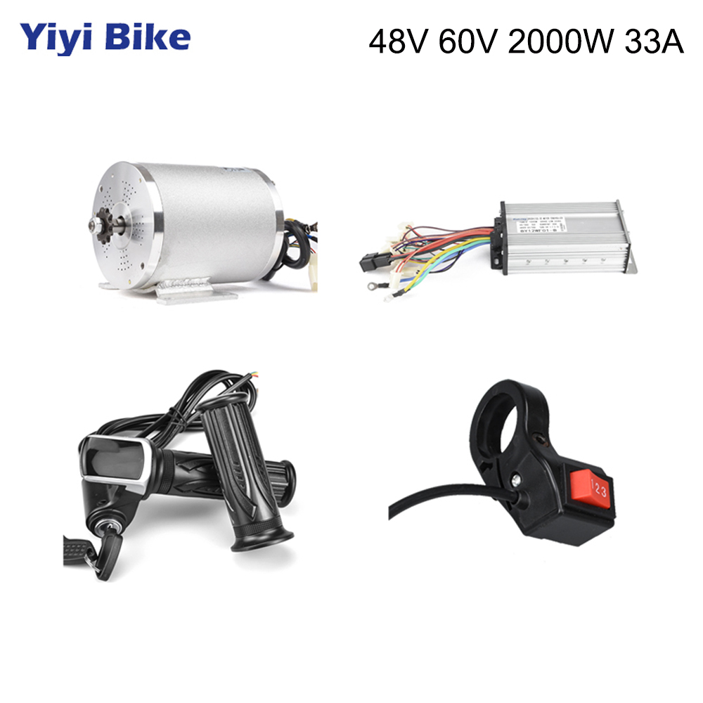 Electric <font><b>Motor</b></font> for Bicycle 48V <font><b>2000W</b></font> <font><b>DC</b></font> <font><b>Motor</b></font>,Scooter <font><b>Brushless</b></font> <font><b>Motor</b></font> Electric Bike Conversion Kit With Controller Bike Parts image