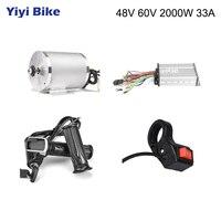 Silnik elektryczny do roweru 48V 2000W silnik prądu stałego  skuter bezszczotkowy zestaw do konwersji roweru elektrycznego z kontrolerem części rowerowych w Silniki do rowerów elektrycznych od Sport i rozrywka na