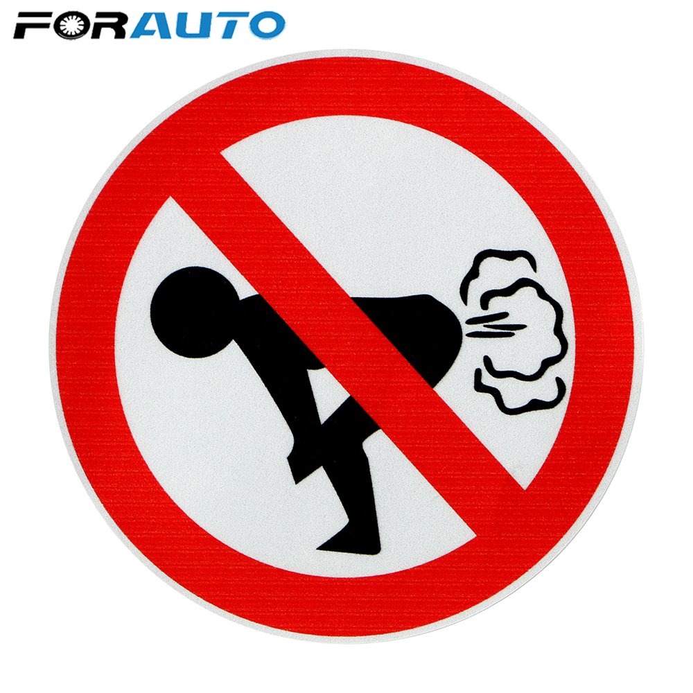 FORAUTO 12CM*12CM No Farting Car Sticker Funny Ass PVC Decal Car Styling Auto Accessories