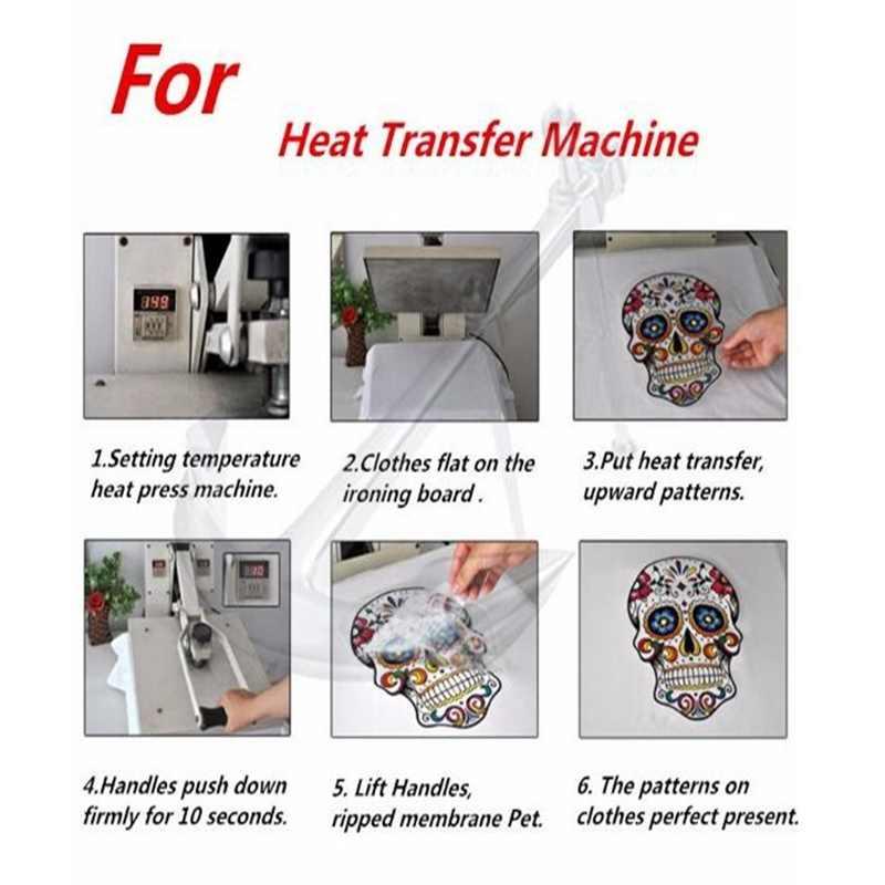Schedel Patch Heat Transfers Voor Kleding Wing Stickers Ijzer Op Transfers Voor Kleding Doek Gekleurde vleugels Iring Stickers groothandel