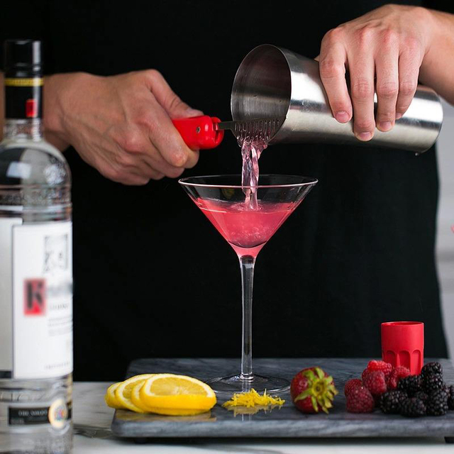 14pcs/set Stainless Steel Boston Cocktail Shaker Red Wine Mixer Shaker Party Bar Tools With Cocktail Recipe Dropshipping