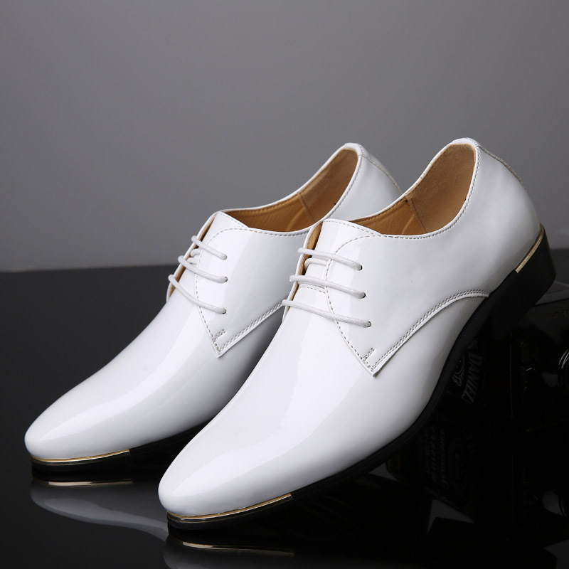 Size38 48 Patent Men Formal Leather