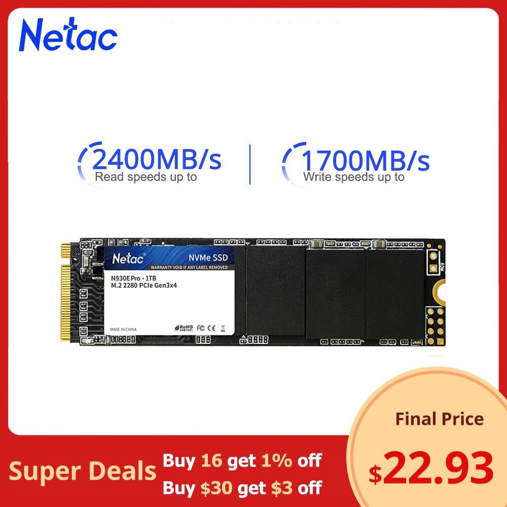 Жесткий диск Netac SSD M2 NVME SSD 1 ТБ 128 ГБ 256 ГБ 512 ГБ 250 ГБ 500 ГБ ssd M.2 2280 PCIe, Внутренний твердотельный накопитель для ноутбука