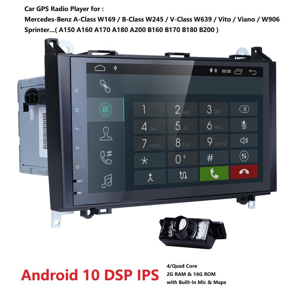 2GRAM 4G WIFI 2din No-DVD GPS Head Unit For Mercedes Benz B200 A B Class W169 W245 Viano Vito W639 Sprinter W906 Bluetooth Radio