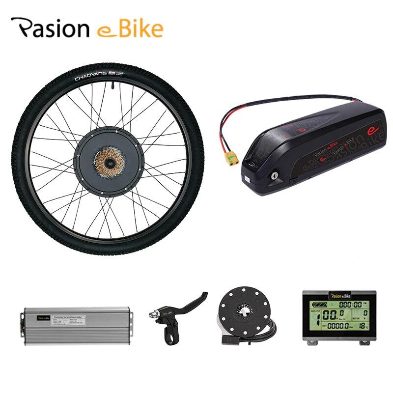 Pasion Ebike 250W-1500W Electirc Bike Conversion Kit With Battery 52v 12.3ah 26