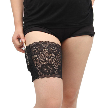 2pcs Lace Leg Warmer Slimmer Band Women High Elastic Silica Gel Anti-friction Protection Thigh Bands Leg Warmers Women Dijenband