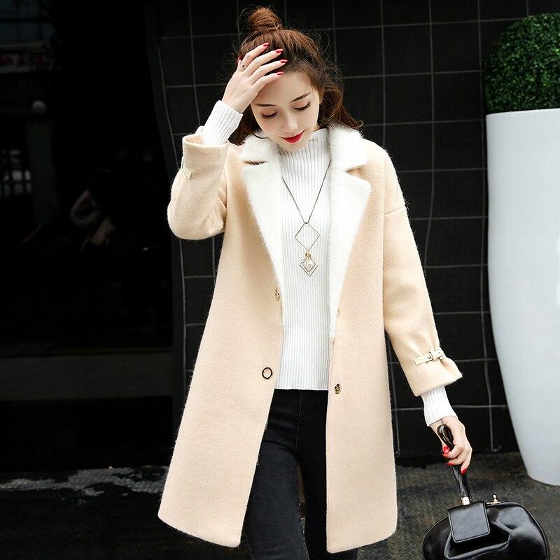 Autumn Winter Wool Coat Women Woolen Female Jacket Long Women's Jackets Woman Coats Korean Casacas Para Mujer KJ332