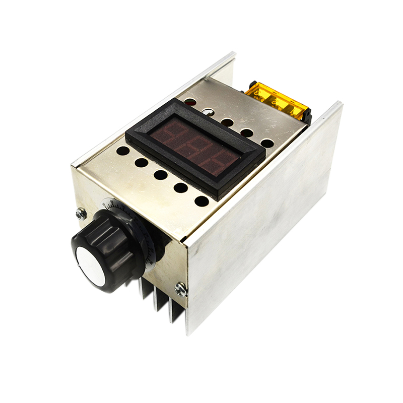 Ac220V 4000W Dimmer High Power Scr Bta41 600B Electronic Voltage Regulator + Digital Display for Dimming Speed Thermostat|  - title=