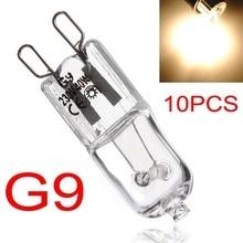 10 pces g9 lâmpadas de halogênio 230-240v 25w/40w fosco/transparente caso cápsula lâmpadas led iluminação branco quente para cozinha em casa