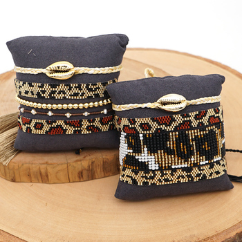 Go2boho 2020 MIYUKI Bracelet Women Leopard Pulseras Mujer Armband Men Bracelets Jewelry Shell Tassel Leopar Pattern Jewellery