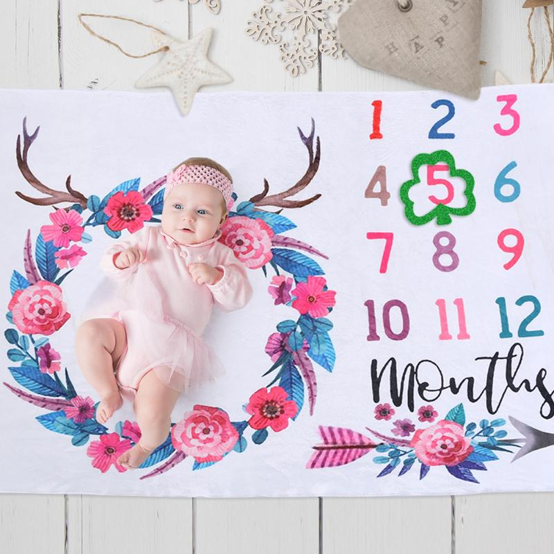 infant-baby-blanket-baby-monthly-photo-photography-prop-blankets-antler-flower-newborn-soft-flanne-photography-props-accessories