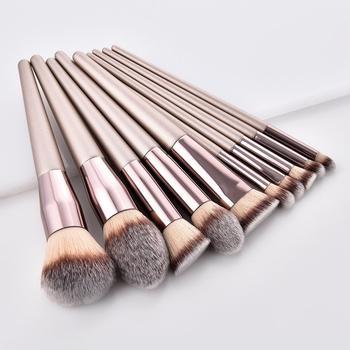Champagne Golden Makeup Brush Set Powder Foundation Brush professional Make Up Brushes Face Beauty Makeup tools Cosmetics Set недорого