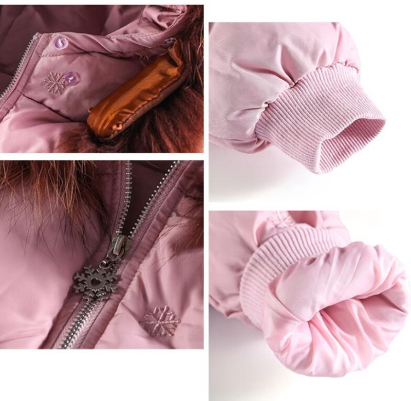 CROAL CHERIE Real Fur Outerwear & Coats Winter Jacket For Girls Children Winter Clothing Outerwear Coat Toddler Clothes (3)