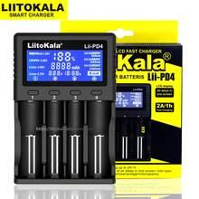 Liitokala Lii-PD4 Lii-500 500s Lii-S6 pd2 18650 inteligente carregador de bateria display lcd 18650 21700 26650 20700 aa aaa capacidade de teste