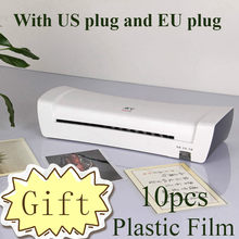 Plastificadora térmica profesional para oficina, máquina laminadora en frío y caliente para documentos A4, embalaje de fotos, rollo de película de plástico