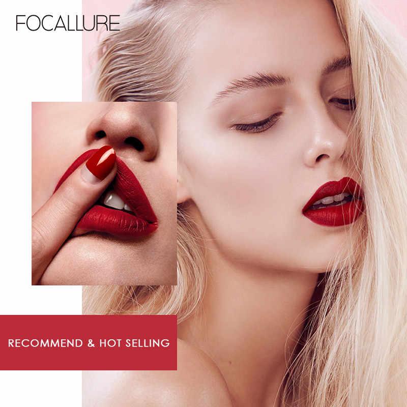 FOCALLURE עמיד למים שפתון נוזלי קטיפה שפתיים גוון סקסי אדום שפתיים איפור לשמור 24 שעות מט שפתון