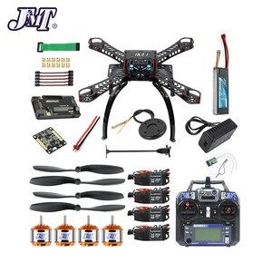 Image 1 - Jmt Volledige Kit Diy Gps Drone Rc Glasvezel Frame Multicopter Fpv APM2.8 1400KV Motor 30A Esc Flysky 2.4GFS I6 zender