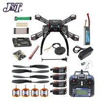 Jmt completa kit diy gps zangão rc fibra de vidro quadro multicopter fpv apm2.8 1400kv motor 30a esc flysky 2.4gfs transmissor i6
