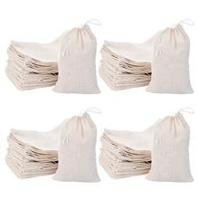 JHD-200 Pack Cotton Muslin Bags Sachet Bag Multipurpose Draw