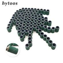 HYTOOS 100 шт./компл. зеленая Бриллиантовая дрель для ногтей Аксессуары для педикюра и ногтей уход, полировка Инструменты для удаления гель-лака