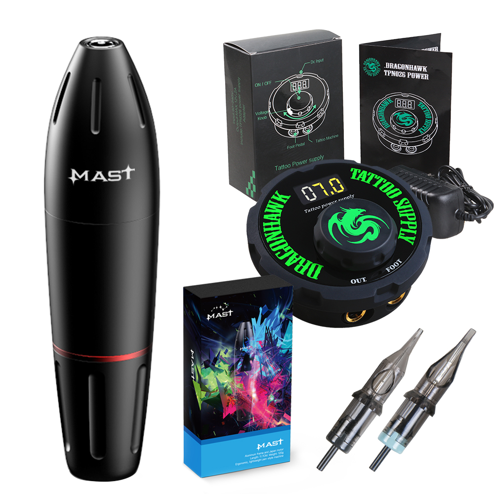 Professional Tattoo Pen Machine Mast K2 Makeup Rotary Tattoo Machine Set For Cartridge Needles Tattoo Supplies