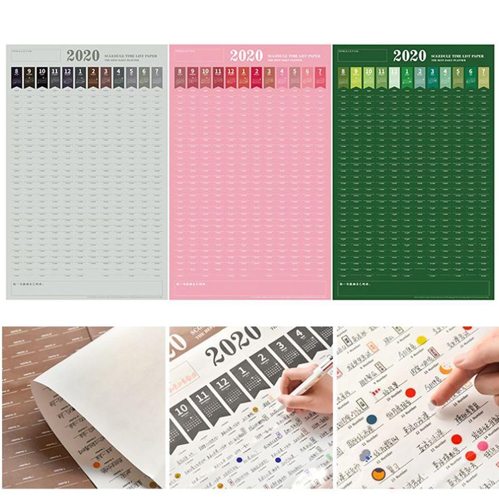2020 Year Planner Calendar Planner Wall Planner Schedule Plan Wall Planner  For Home Office School Organisation 82x52cm
