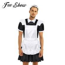 Nam Ẻo Lả Shemale Quần Áo Người Giúp Việc Trang Phục Hóa Trang Nam Đồng Tính Crossdresser Halloween Game Nhập Vai Người Áo Lót Cho Crossdressing