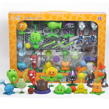 New Popular Game Pvz Plants Vs Zombies Peashooter Pvc Action Figure Model Toys  10cm