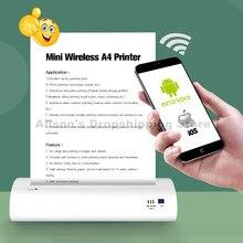 Imprimante thermique Portable A4, sans fil, Bluetooth, batterie USB, pour maison, bureau, impression Mobile, iOS, Android, Applicable