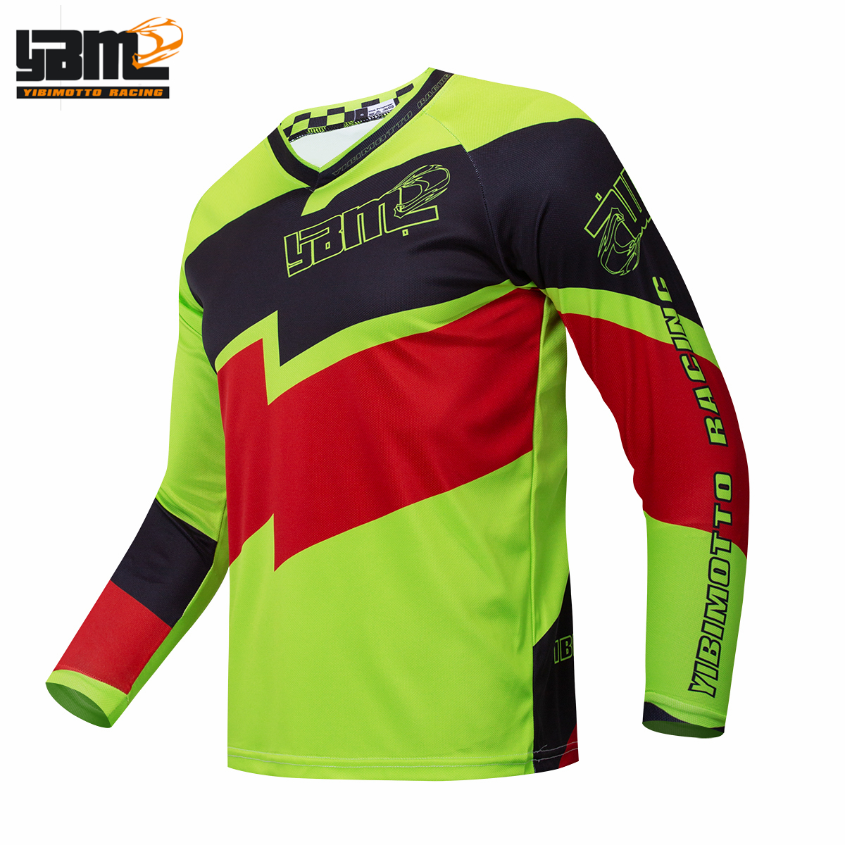 Mtb Jersey Long-Sleeve Maillot-Ciclismo Mountain-Spexcec Clycling Dh Off-Road Hombre
