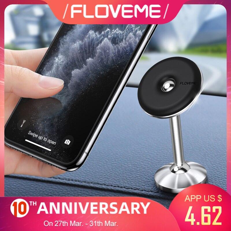 FLOVEME Car Phone Holder Universal Magnetic Phone Holder In Car For Cell Phone 360 Degree Rotation Mobile Phone Holder Stand