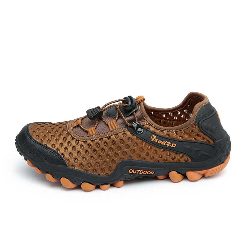 الصيف في الهواء الطلق أحذية رياضية الرجال الهواء شبكة تنفس حذاء للسير مسافات طويلة المضادة للانزلاق حذاء ارتحال النساء للصدمات تسلق أحذية مشي