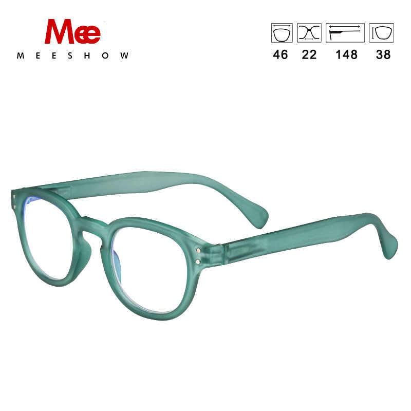 Meeshow lunettes de lecture Anti Blue Ray homme femmes rétro lunettes Leesbril avec dioptrie + 1.0-+ 3.5 Lesebrillen 1513