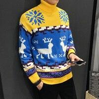 Осенний модный мужской свитер, Sika ретро свитер с рисунком оленя, Мужской Женский Повседневный вязаный пуловер, рождественский подарок, мужс...