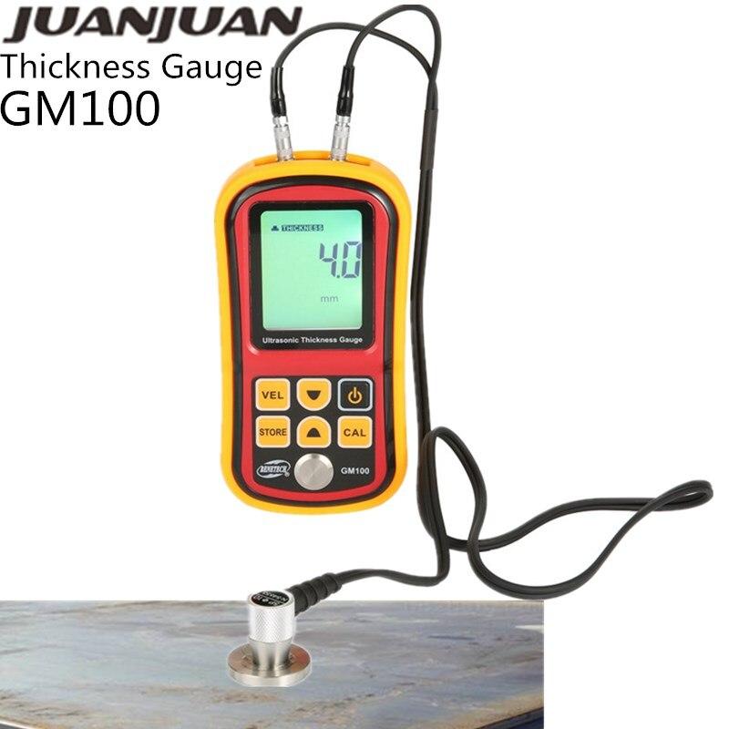Толщиномер GM100, ультразвуковой металлотестер от 200 до 30% мм, голосовой измеритель скорости звука, стальной тестер для труб, толщины измерения...