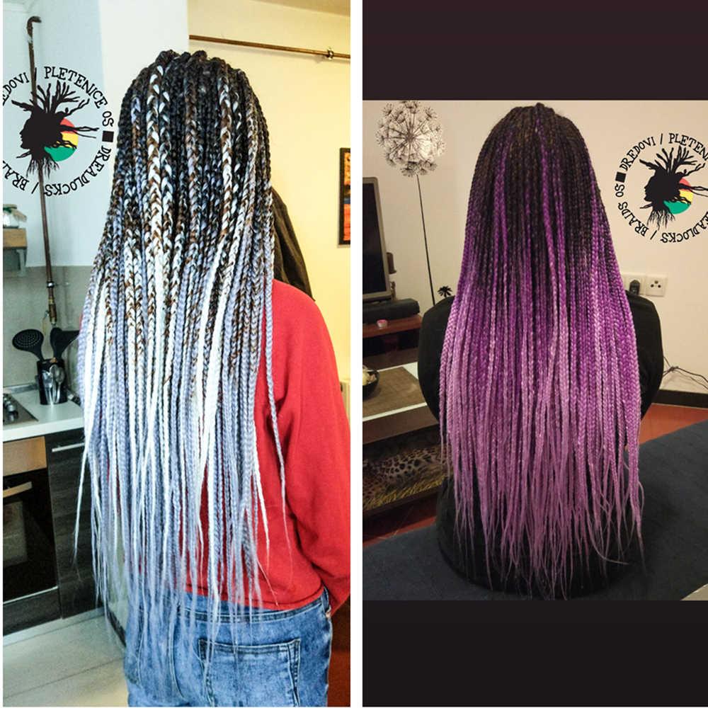 Extensiones de cabello de ganchillo sintético Jumbo trenzas cabello largo Ombre Jumbo 24 pulgadas 100g 2T 3T belleza dorada 4T