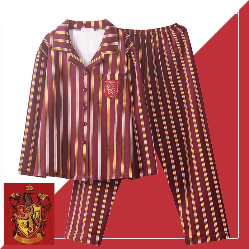 3 Piece Long Sleeve Potter Sleepwear Pajamas Suit Cosplay Short Sleeve Costume Autumn Unisex