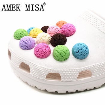 Simulation ice cream ball Shoe Accessories 2020 Novel Buckle Charms Resin Croc Decoration fit jibz Kids Party Gifts