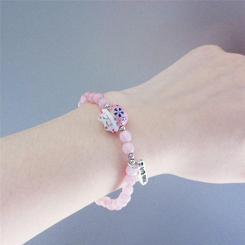 handmade lucky cat fashion bracelet gift chain 9