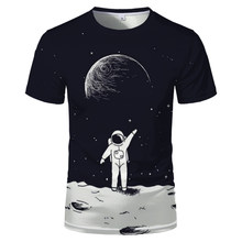2021 starry sky 3D printed T-shirt men's summer casual men's T-shirt fun T-shirt streetwear men's and women's tops