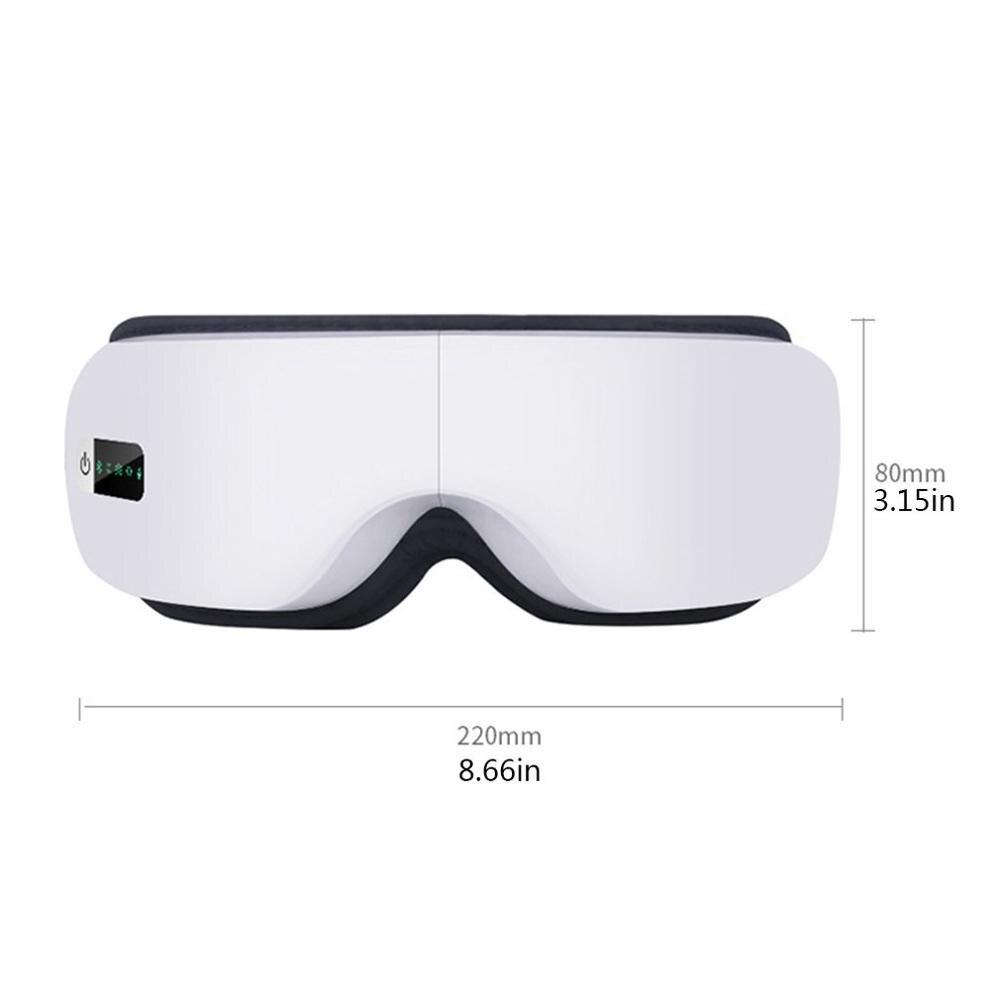Dispositif de soin des yeux sans fil Intelligent traitement thermique sans fil Instrument de soin des yeux pliant Vibration Massage masque pour les yeux Machine
