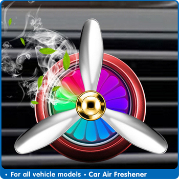 Air Freshener Automobile Smell LED Mini Conditioning Vent Outlet Perfume Clip Fresh Aromatherapy Fragrance Alloy Car Accessories image
